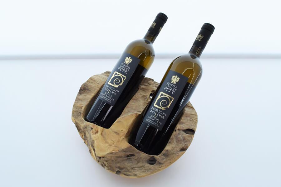 Relatiegeschenk houten wijnhouder