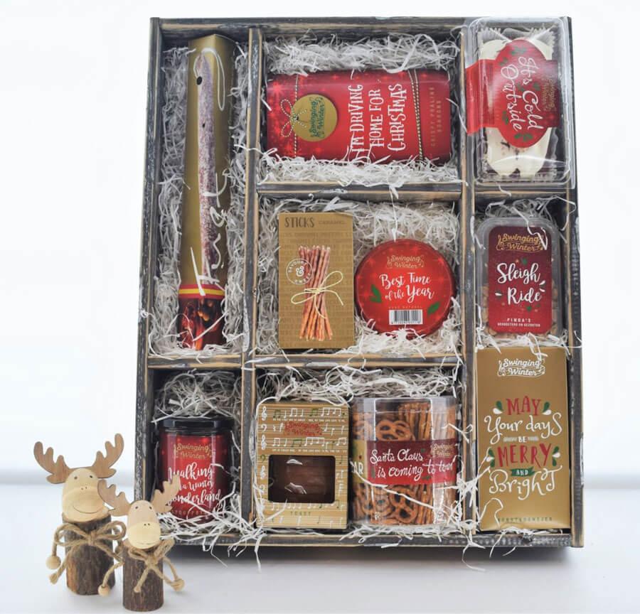 uniek kerstpakket Letterbak