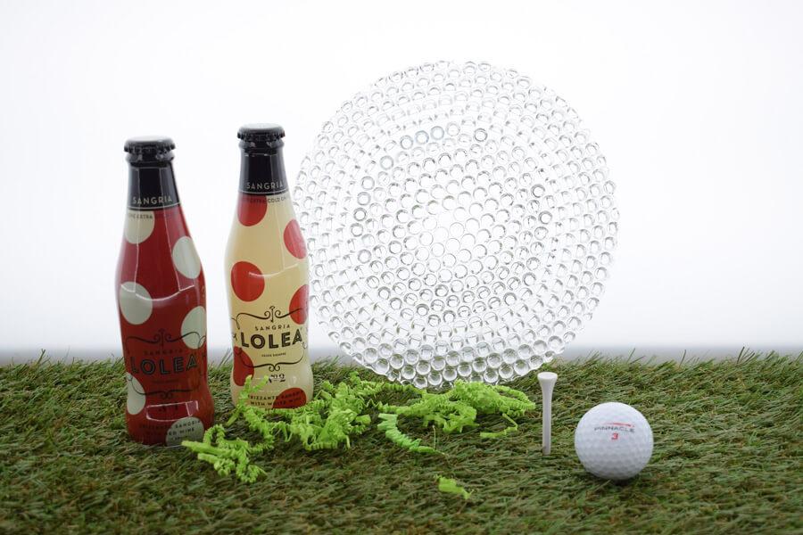golf geschenken drankjes met schaal