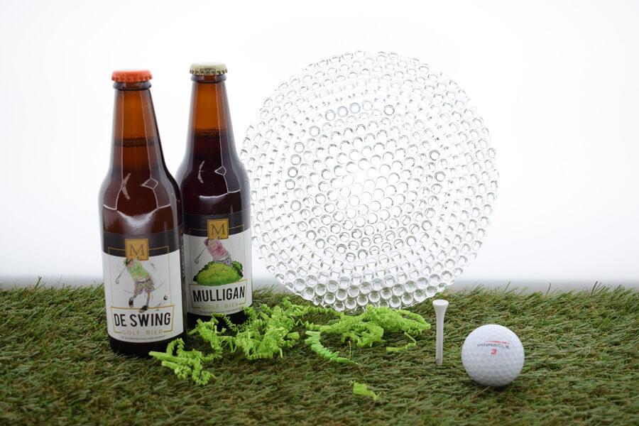 golf geschenken golfbiertjes met schaal